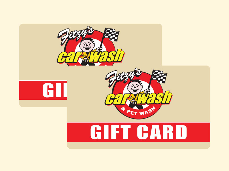Fitzy's Car & Pet Wash Gift Cards